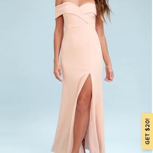 🌸Blush off the shoulder bridesmaid dress🌸